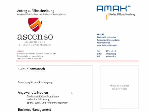 Die Bewerbung Fürs Studium | Ascenso Akademie